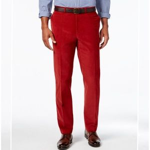 💯 Cotton Rich Red Corduroy Pants.